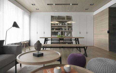 北欧风格80平米两室两厅新房装修效果图