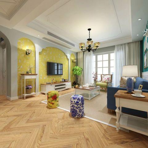 美式风格230平米复式室内装修效果图