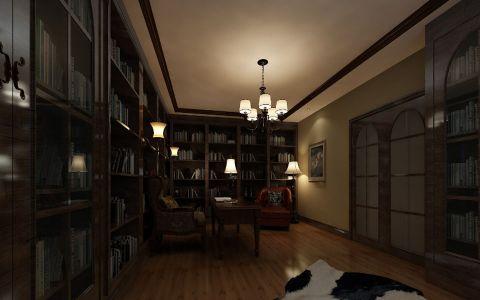 书房吊顶美式风格装潢图片