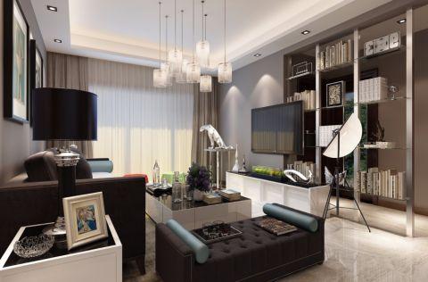 90平简约风格二居室装修效果图