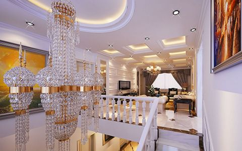 客厅吊顶欧式风格效果图
