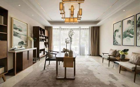 融创中学府120平中式风格二居室装修效果图