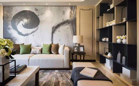 客厅背景墙中式风格装潢效果图