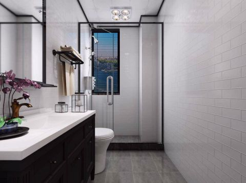 卫生间地砖新中式风格装修效果图