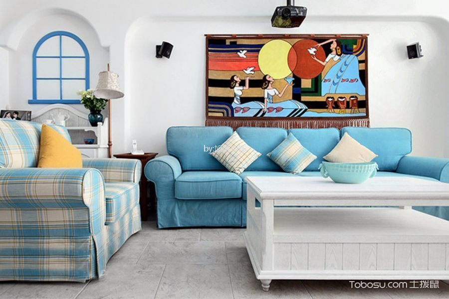 西溪小海80平地中海三居室装修效果图