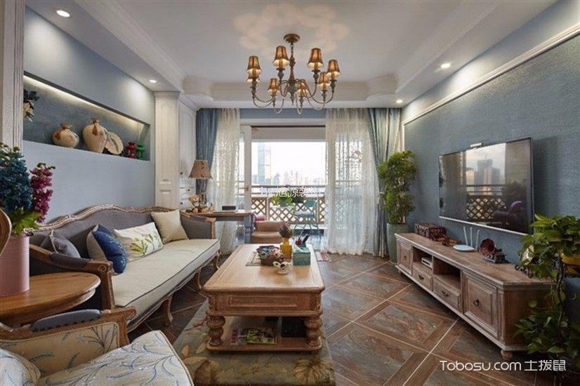 保亿风景晨园100平混搭风格三居室效果图
