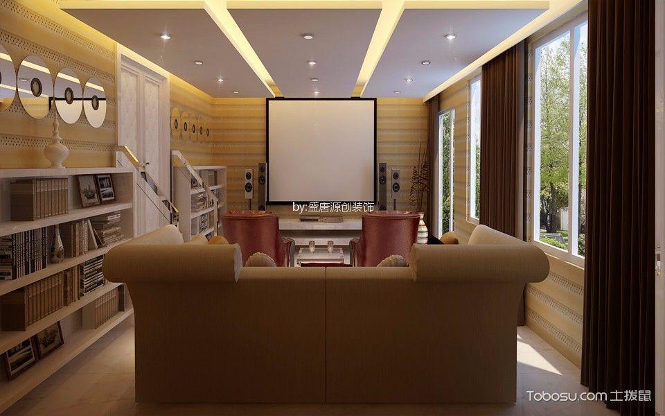 现代简约风格300平米别墅新房装修效果图