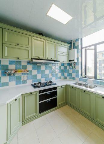 厨房走廊田园风格效果图