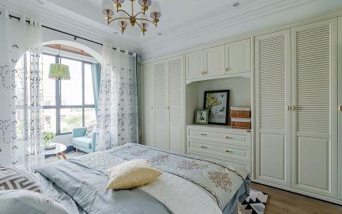 卧室窗帘田园风格装潢效果图