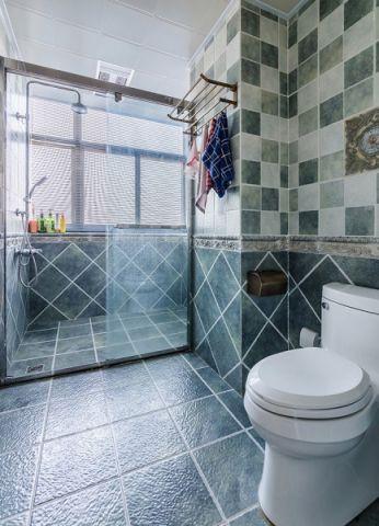 卫生间地砖田园风格装潢图片