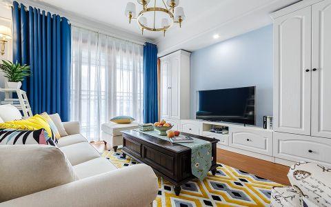 客厅吊顶地中海风格装饰效果图