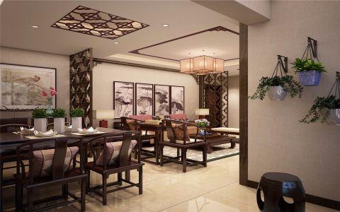 餐厅隔断新中式风格装潢图片