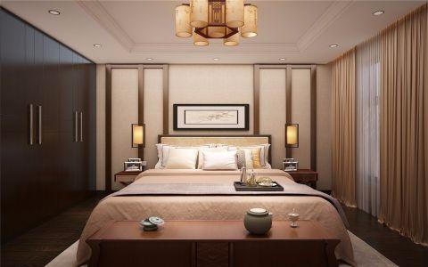 卧室床新中式风格装潢设计图片