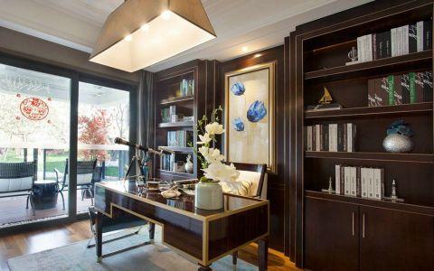 书房书桌混搭风格装潢设计图片
