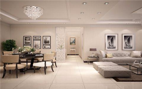 和平家园100平现代简约风格三居室装修效果图