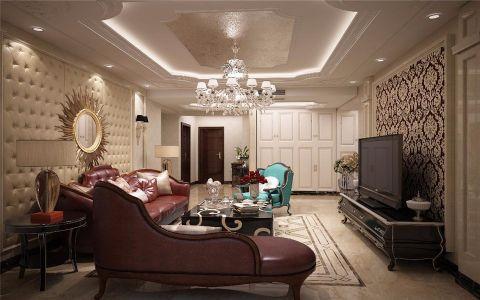 欧式风格90平米三室两厅新房装修效果图