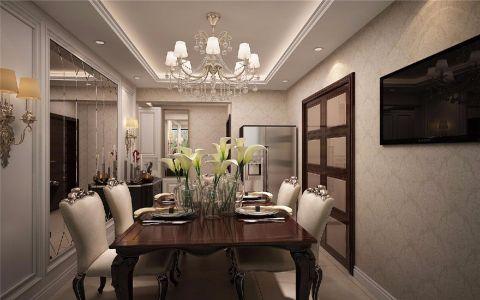 餐厅餐桌欧式风格装潢图片