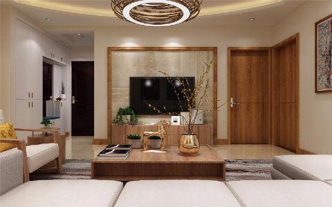 客厅背景墙新中式风格装修效果图