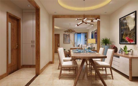 新海家园100平新中式风格三居室装修效果图