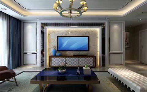 后现代风格110平米三居室新房装修效果图