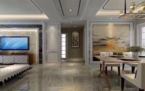 客厅走廊后现代风格装修设计图片