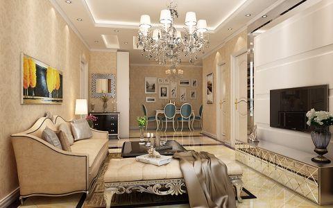 110平欧式风格二居室装修效果图