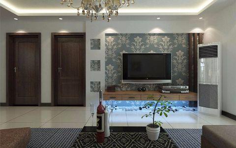 客厅电视柜现代简约风格装潢图片
