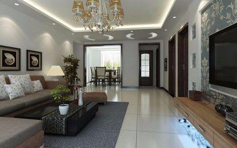 100平现代简约风格二居室装修效果图