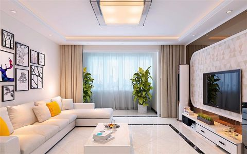 阳台窗帘现代简约风格效果图
