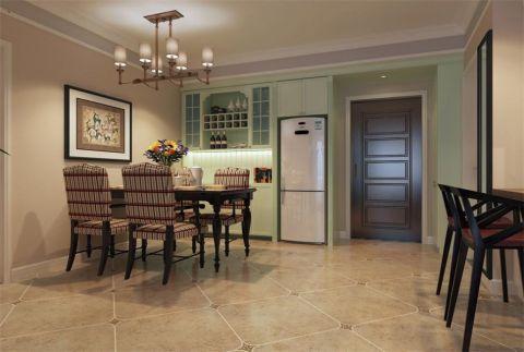 紫御江山80平美式风格二居室装修效果图