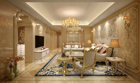 菲力英伦简欧风格四居室装修效果图