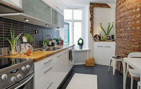 厨房窗台北欧风格装饰设计图片