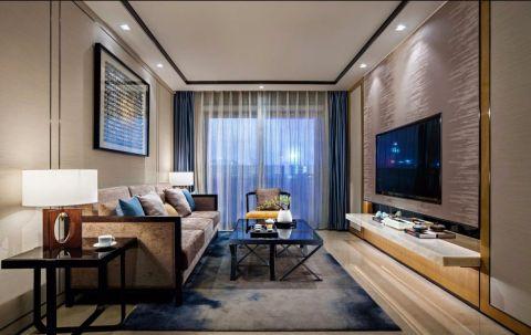新中式风格120平米三室两厅装修效果图