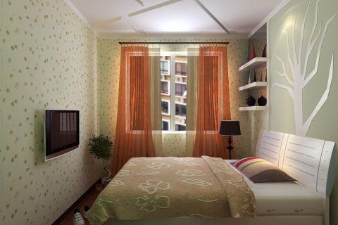 卧室窗帘田园风格装修设计图片