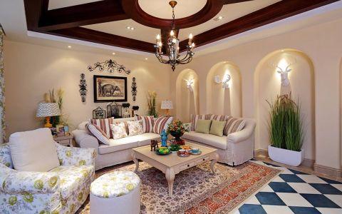 朗诗未来家130平米美式风格三居室装修效果图