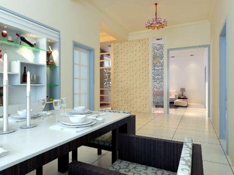 餐厅走廊现代简约风格装潢效果图