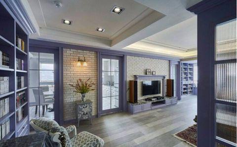 水岸花都混搭风格三室两厅装修效果图