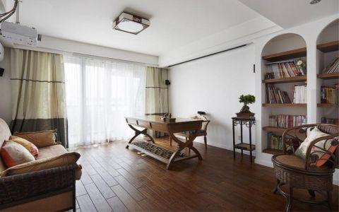 书房窗帘欧式风格装潢效果图