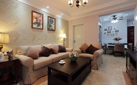 天鹅堡80平二居室现代美式装修效果图