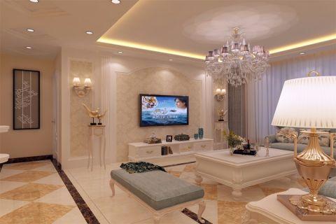 华丽客厅茶几装潢实景图片