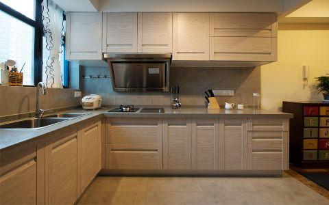 低调优雅地中海咖啡色橱柜装潢设计图片