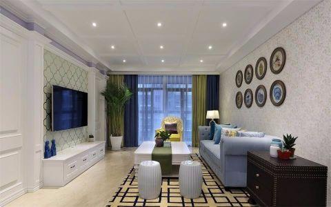 法式风格100平米两室两厅新房装修效果图