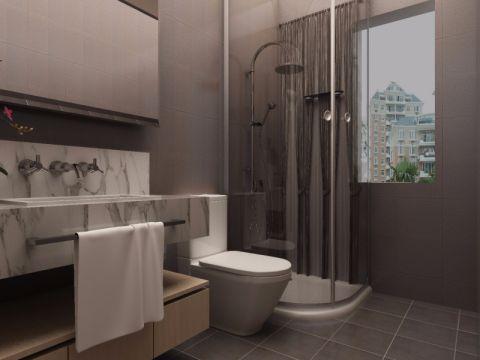 韩建雅苑90平现代风格三居室装修效果图