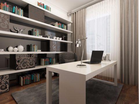 书房博古架现代简约风格装修设计图片