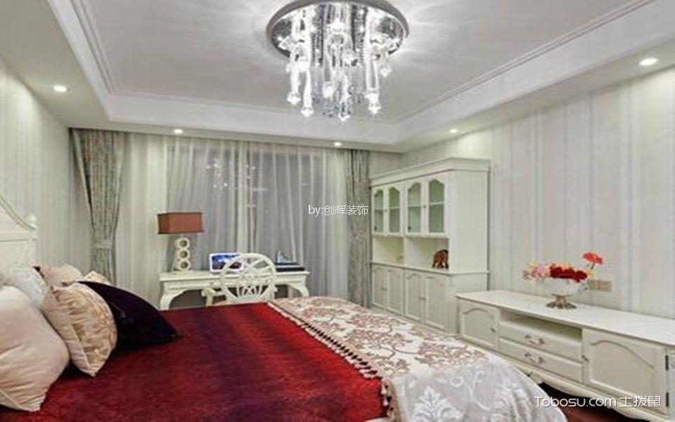 联建新苑欧式风格效果图背景墙吊顶照片墙
