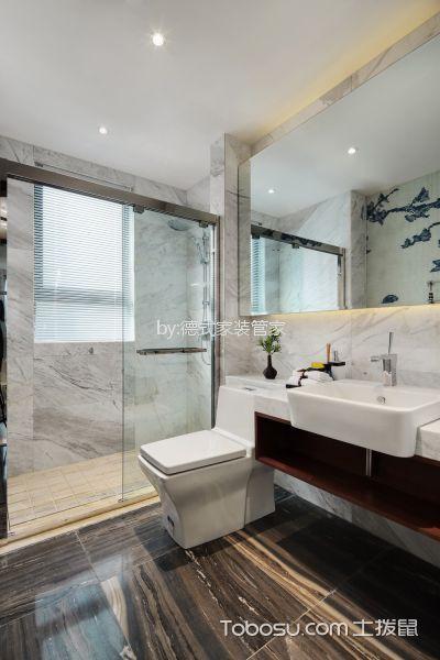 卫生间 洗漱台_新中式风格120平米三室两厅新房装修效果图图片