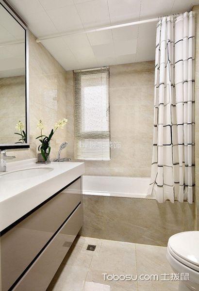 卫生间黄色地砖北欧风格装修设计图片