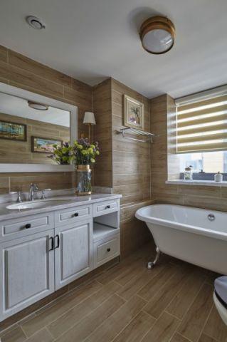 浴室浴缸美式风格装饰图片