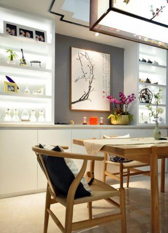 餐厅博古架新中式风格装饰效果图