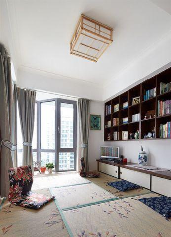 书房窗帘美式风格装潢图片